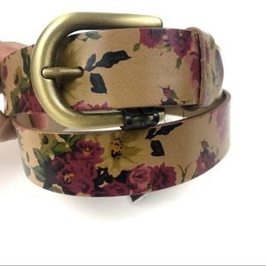 Patricia Nash Antique Rose Collection Leather Belt